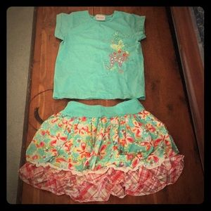 Girls CR Kids skirt and top